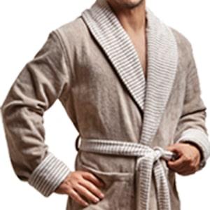 یقه آرشال حوله تن پوش مردانه پودایران طرح کلاسیک