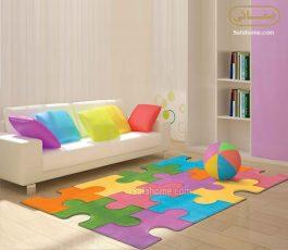 قالیچه زرباف طرح پازل