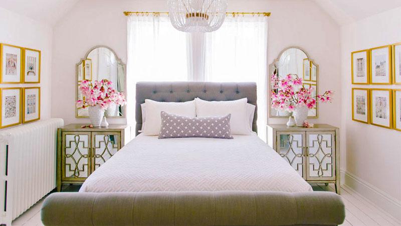 ایجاد تقارن، مهمترین اصول چیدمان اتاق خواب کوچک