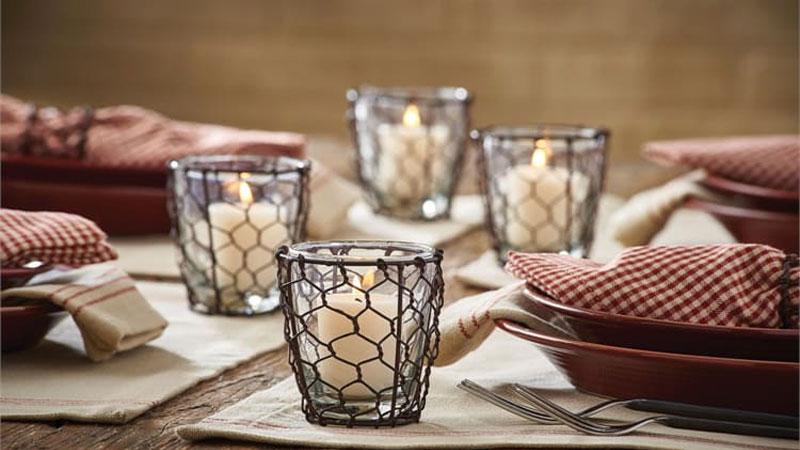 تزیین میز ناهارخوری با شمعدان، بهترین مدل تزیین میز