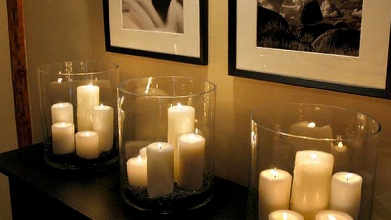 تزیین اتاق با شمع
