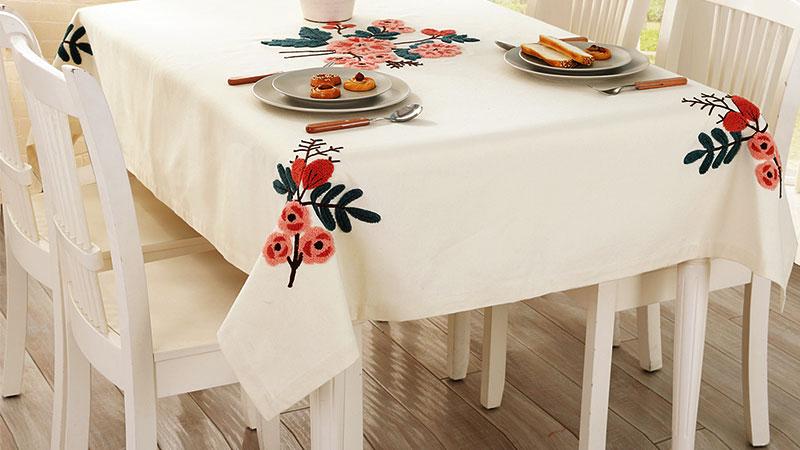 شستشوی رومیزی گلدوزی