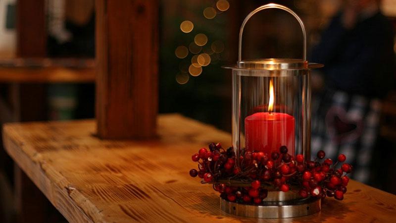 شمع رنگی در دکوراسیون خانه