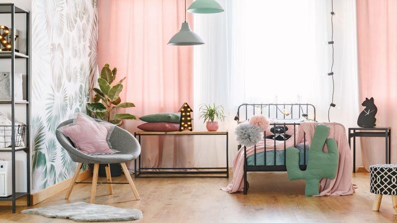 نورپردازی اتاق خواب دخترانه، رنگی و خاص