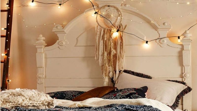 نورپردازی اتاق خواب با استفاده از ریسه نوری، جذاب و خلاقانه