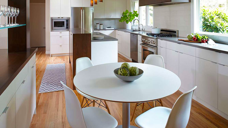 آشپزخانه مدرن با کمک سبک مینیمال