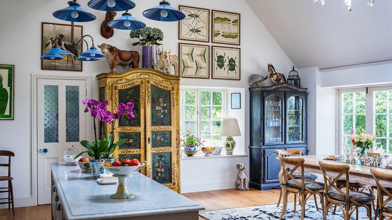 دیزاین آشپزخانه به سبک انگلیش هوم، جذاب و منحصربهفرد